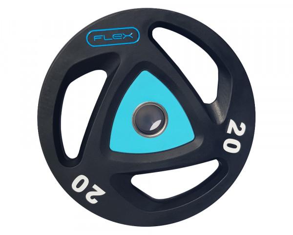 FLEX 3 Grips Uretán Súlytárcsa - 20 kg