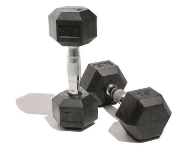 Flex Egykezes Gumi Hexa Kézisúlyzó Szett 37,5 kg -50 kg (5 pár)