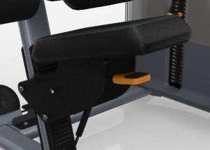 Lapsúlyos lehúzó hátgép – Racsnis ülés