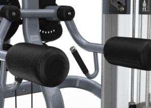 Lapsúlyos oldalemelő vállgép - Kényelmes görgőpárnák