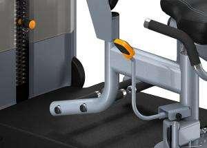 Lapsúlyos lábtávolító gép - Ergonomikus lábtartók