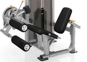 Leg Extension / Leg Curl - lábnyújtó / lábhajlító gép könnyű ki-be szállás
