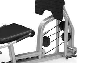 Leg Press / Calf Extension - lábtolás / vádligép 4 összekapcsolt rúd